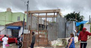 Obra irregular no centro de Itaquera