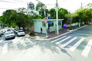 Rua Américo Salvador Novelli. Base está desativada há mais de dois anos. Ela tinha um papel fundamental no centro de Itaquera, já que a região é repleta de bancos e comércio