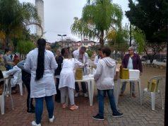Ação acontece até as 16h na praça do Portal Dom Bosco