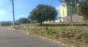 Terreno municipal acabou virando local de descarte clandestino de lixo e entulho