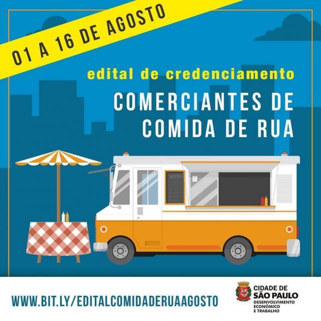 Inscrições abertas para comerciantes de comida de rua