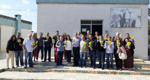 Participantes do almoço de confraternização da Casa do Cristo Redentor