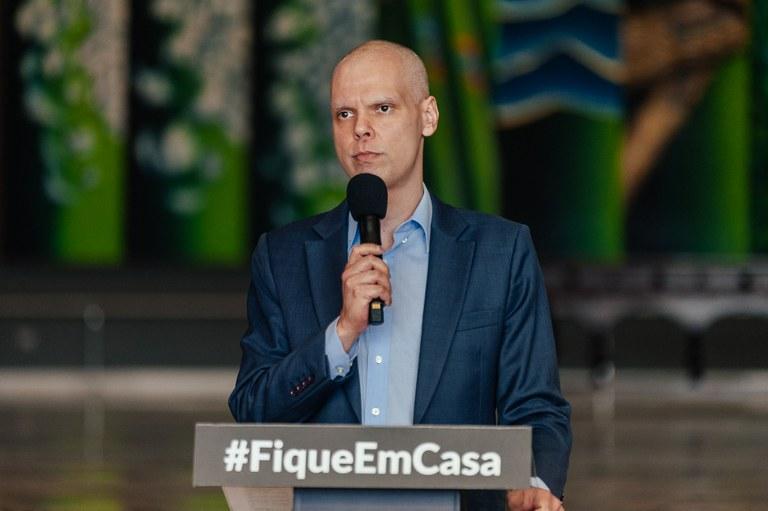 O prefeito Bruno Covas apoia as medidas adotadas pelo governo do Estado de SP
