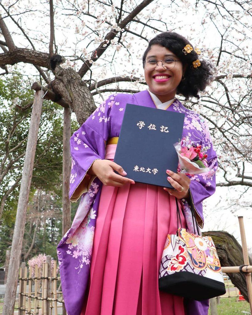 Marina de Melo do Nascimento é formada no Japão e itaquerense também – Foto divulgação